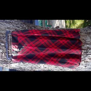 Laura Scott 18W lined calf length skirt w/ zipper